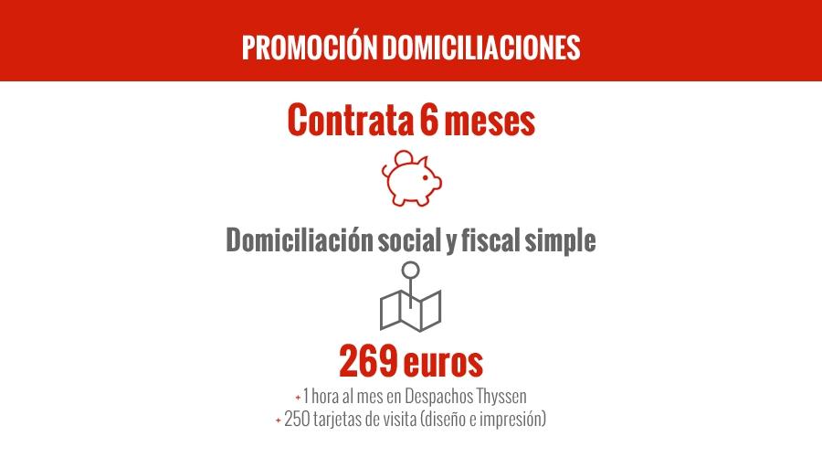 Promoción Domiciliación Social y Fiscal Simple