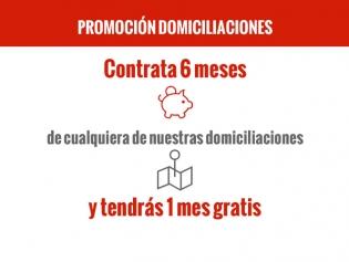 Promoción Domiciliaciones. Contratación semestral