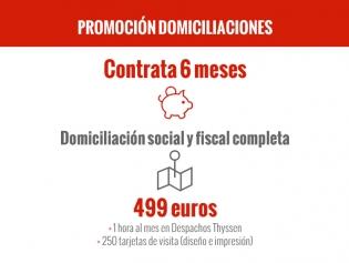 Promoción Domiciliación Social y Fiscal Completa