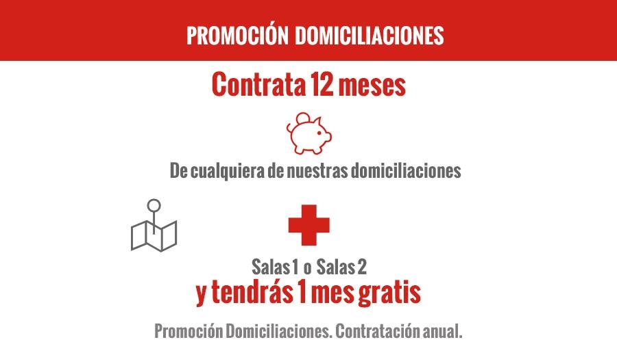 Promoción Domiciliaciones. Contratación anual +salas 2017