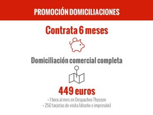 Promoción Domiciliación Comercial Completa