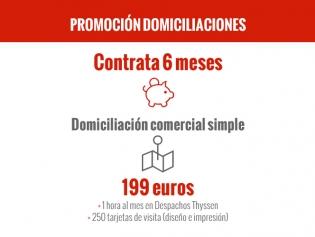 Promoción Domiciliación Comercial Simple