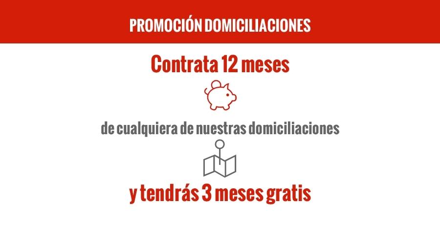 Promoción Domiciliaciones. Contratación anual
